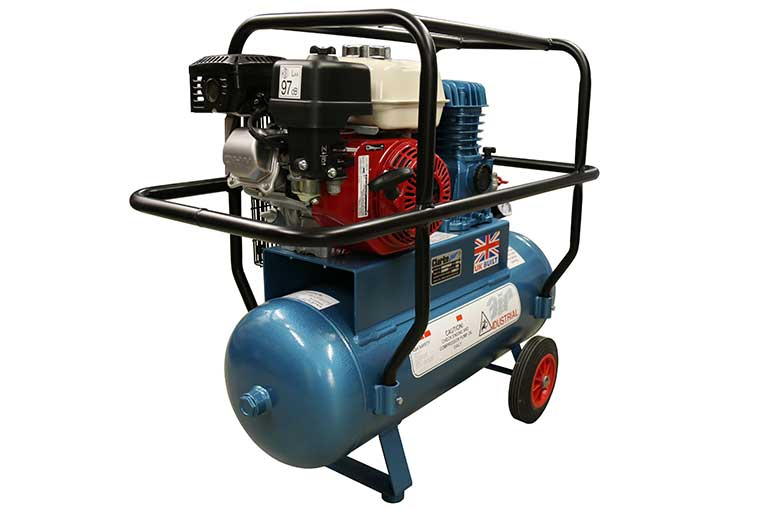 Clarke 15cfm Full Frame Portable Petrol Compressor side view