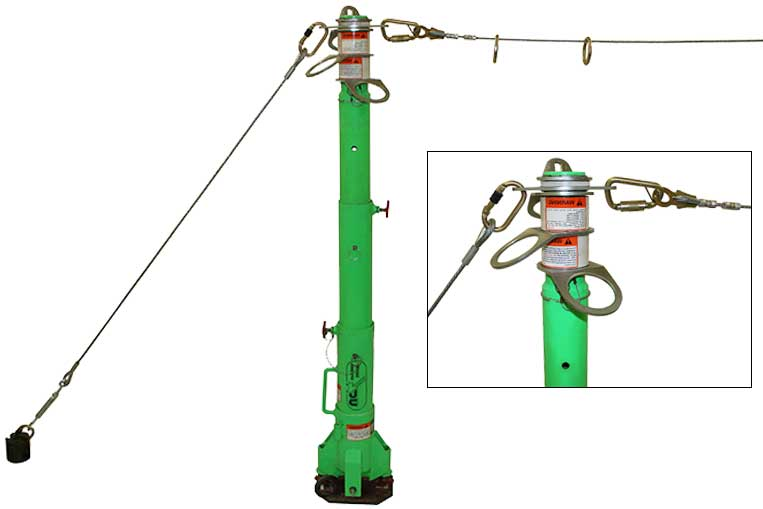 Portable Fall Arrest Post with ez-line