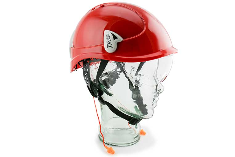 TR2000 with Visor & In-Ear Defenders