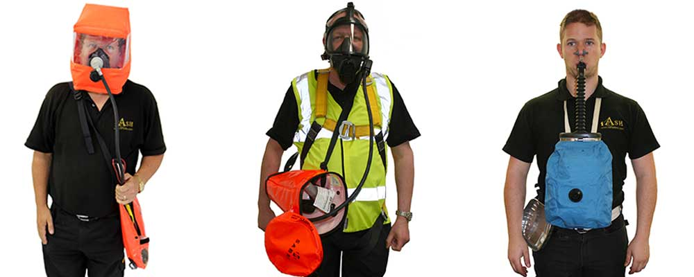 Diffent type of escape breathing apparatus available